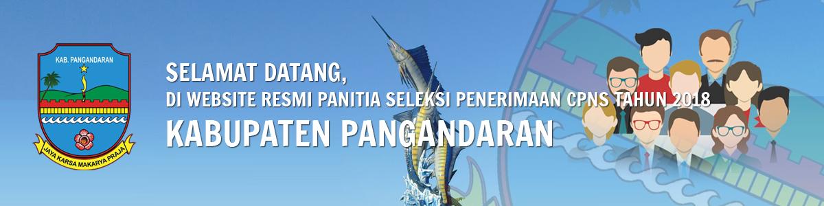 Website Resmi Penerimaan CPNS Kabupaten Pangandaran Tahun 2018